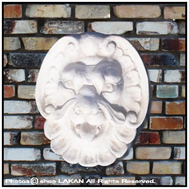 ライオンマスク 壁面 洋風 彫像