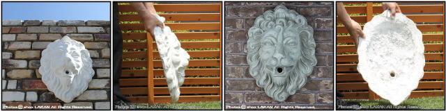 ライオン マスク 動物 洋風 彫像