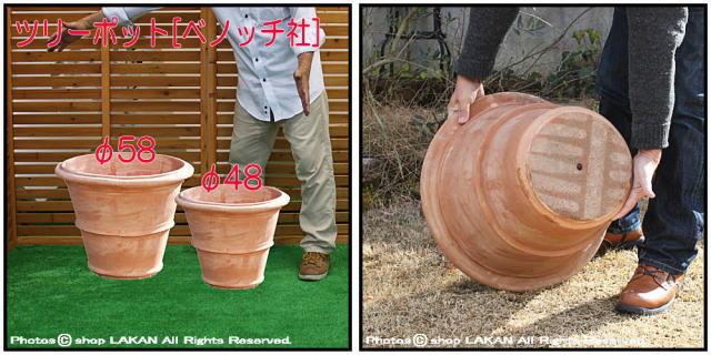 イタリア ツリーポット 大型植木鉢 高級 ベノッチ テラコッタ製