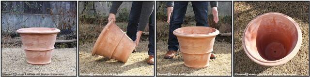 大型植木鉢 高級 ベノッチ テラコッタ製 イタリア