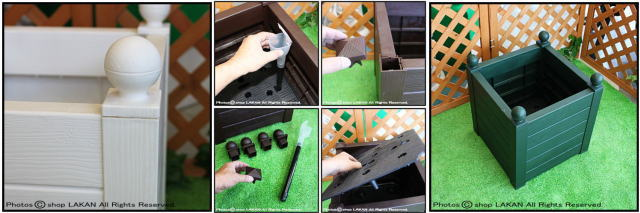 マルキオーロ社製 ボーラ鉢  高級輸入植木鉢 高品質  ボックス型 キャスター付き 移動楽々 人気大型樹脂鉢