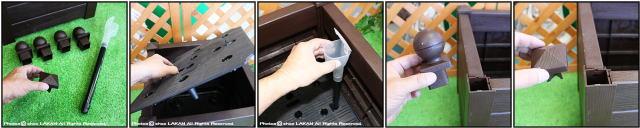 人気大型樹脂鉢 ボーラ鉢  ボックス型 マルキオーロ社製 高級輸入植木鉢 高品質  移動楽々