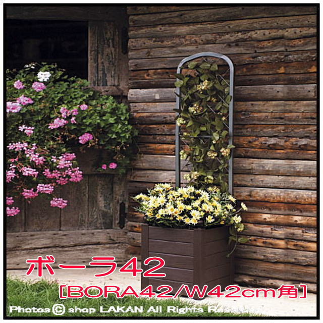 ボーラ鉢 高級輸入植木鉢 高品質  ボックス型  移動楽々 マルキオーロ社製 人気大型樹脂鉢