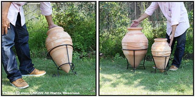 テラコッタ鉢 クレタ島 植木鉢