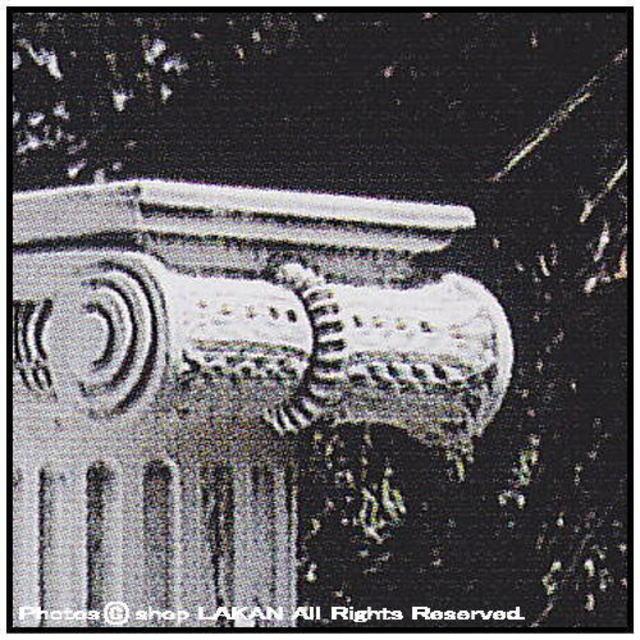 飾り柱 イオニカ大 石造 高級感 ガーデンオブジェ クラシック イタルガーデン 洋風庭園 重厚 大型