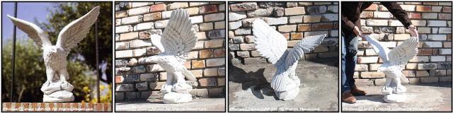 石像 飛び立つ海鷲 アニマル