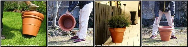 リムポット37 素焼き陶器鉢 輸入植木鉢 トスカーナ デローマ社 大型テラコッタ鉢