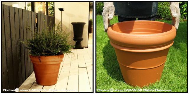 デローマ社 リムポット42 輸入植木鉢 トスカーナ 大型テラコッタ鉢 素焼き陶器鉢