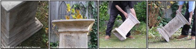 パレストロ2 花台 ベトナム製 角型 立柱 エッシュバッハ テラコッタ製 ガーデン アンティコ 台座 人気置物