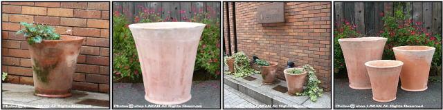 ピエガティー 質感 エッシュバッハ社 スマートデザイン プレーン モダン テラマーナ テラコッタ植木鉢