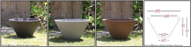 強化コンクリート製 ストーンライト 植木鉢