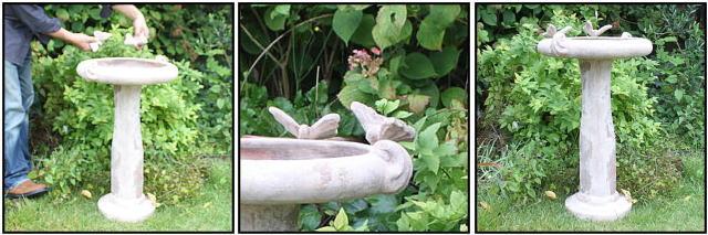ガーデンオブジェ  バードバス 庭園置物  洋風  オーナメント  石像 テラコッタアイテム