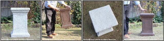 ガーデニング バッセル ファイバー製 クラシックデザイン 樹脂製 大型 ガラス繊維 花台 ティンダーレ台座