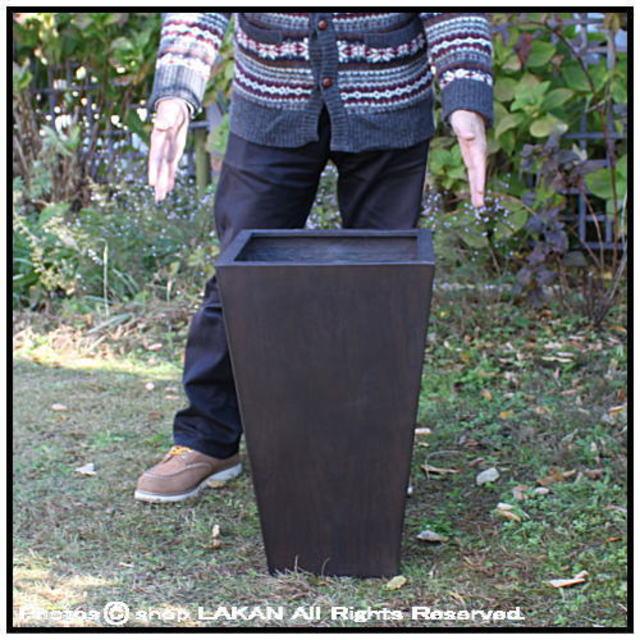 MOKU 角型樹脂製鉢 花鉢 背高 スクエアー 木の質感 温かい木質 室内専用の鉢カバー Woody Finish 木目が美しい