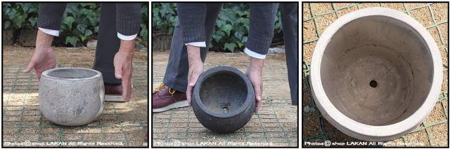 古代仕上げ バルーン23 フリット 自然な風合い アンティーク仕上 輸入植木鉢 テラコッタ