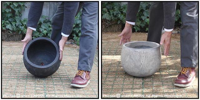 バルーン32 フリット 古代仕上げ 自然な風合い アンティーク仕上 輸入植木鉢 テラコッタ