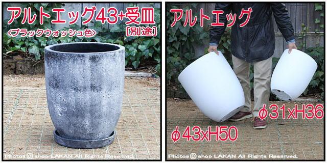 軽量コンクリート フォリオ アルトエッグ アンティーク仕上 古代仕上げ 自然な風合い 輸入植木鉢