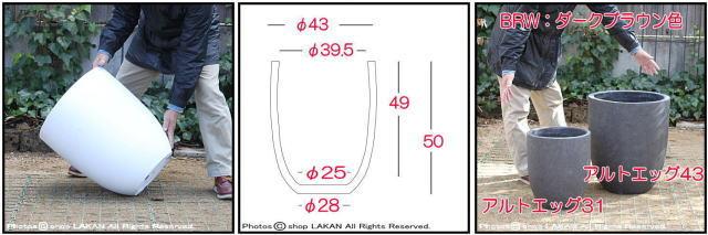 アルトエッグ 古代仕上げ 自然な風合い 軽量コンクリート フォリオ アンティーク仕上 輸入植木鉢