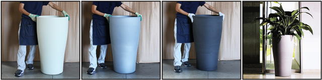 背高筒型 テュラム 樹脂 植木鉢 ポリエステル 樹脂製