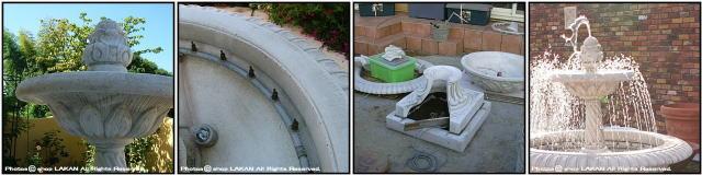 輸入オーナメント セストリー 石造噴水