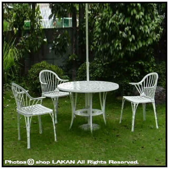 屋外家具 全天候性 デシモベル アルミ鋳物 ガーデンチェア フィリピナスチェア