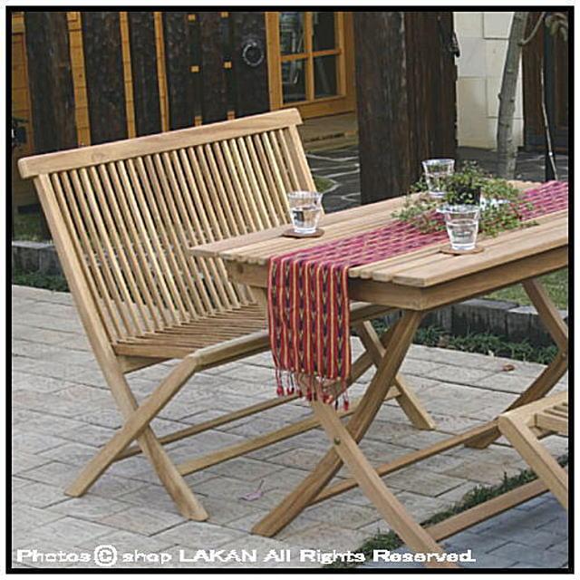 折り畳みラブチェア インドネシア ガーデン家具 チーク製 屋外家具 ジャービス ベンチ