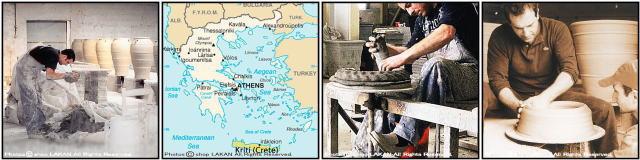 ギリシア ピサーリ アンティーク調 大型壺 テラコッタ鉢 クレタ島 オブジェ 素朴 素焼き鉢 輸入