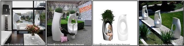 ホリーオール セラルンガ社 イタリア製 デザイナーズ ポリエチレン樹脂鉢 Philippe Starck 軽量 大型施設