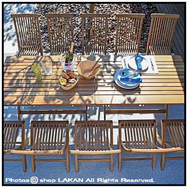 ジャティテーブル12x8 ミャンマー 屋外家具 チーク ニチエス 折りたたみ 大型食卓