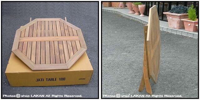 ガーデン家具 チーク ミャンマー ジャティテーブル1000 軽量 折りたたみ コンパクト