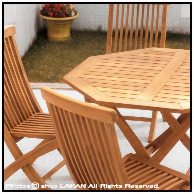 チーク 折りたたみ ニチエス ジャティテーブル1000 ガーデン家具 ミャンマー