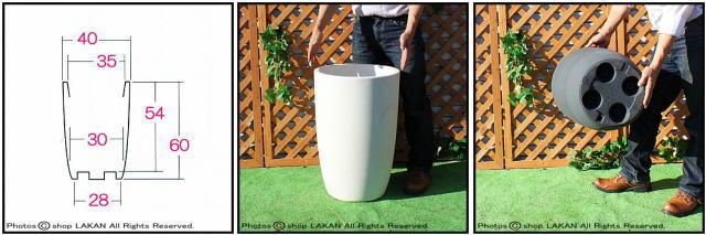 サイズ豊富 背高 円筒型 円柱 キボー KIBO 高級輸入樹脂植木鉢 キャスター付 マルキオーロ社