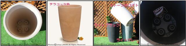キャスター付 円柱 高級輸入樹脂植木鉢 キボー サイズ豊富 背高 円筒型 マルキオーロ社 KIBO
