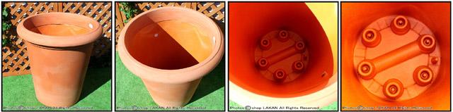 キャスター マルキオーロ社 デザインもサイズも豊富 レオン鉢 高級輸入樹脂植木鉢