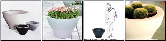 高級輸入鉢 ミング セラルンガ社 デザイナーズ ポリエチレン樹脂製 大型 イタリア製 店舗設計 樹脂鉢