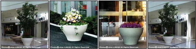 セラルンガ社 高級輸入鉢 ミング デザイナーズ 店舗設計 大型 イタリア製 樹脂鉢 ポリエチレン樹脂製