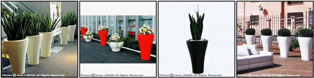 セラルンガ社 デザイナーズ 艶消し色 ロドロフ・ドルドーニ ミングハイ 大型樹脂鉢 ポリエチレン樹脂製