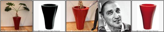 デザイナーズ 光沢ラッカー仕上げ 大型樹脂鉢 ポリエチレン樹脂製 セラルンガ社 大型プランター ミングハイ ロドロフ・ドルドーニ