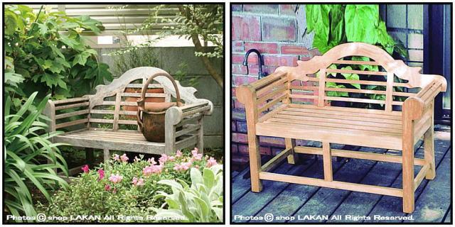 アーム付き ミニ貴族ベンチ インドネシア ガーデン家具 チーク製 屋外家具 花台