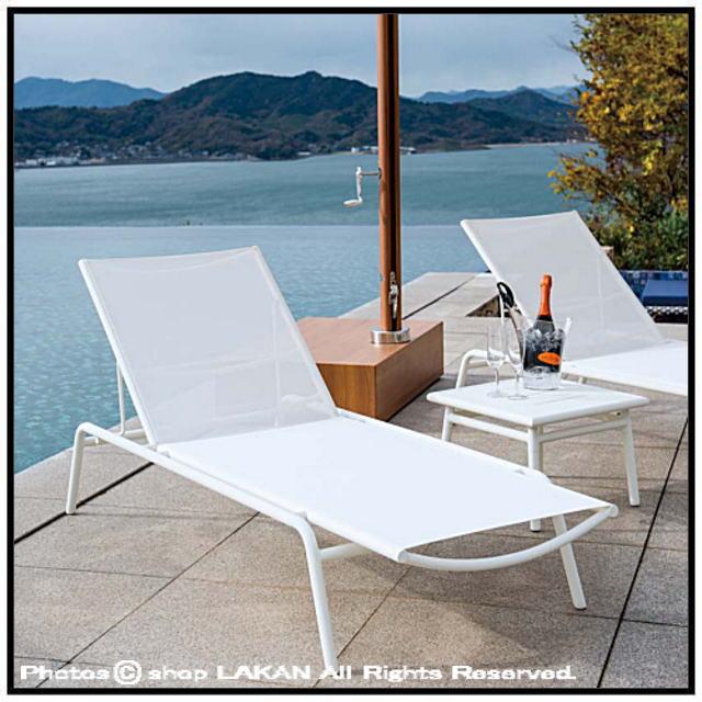 サンベッド、リクライニング、ガーデン家具 デッキチェア、錆びない、軽量、アルミ素材、