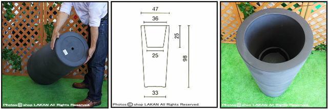 デザインもサイズも豊富 ユーロスリー ポリエステル樹脂製 イリィ 高級輸入樹脂植木鉢 Euro3Plast 2415