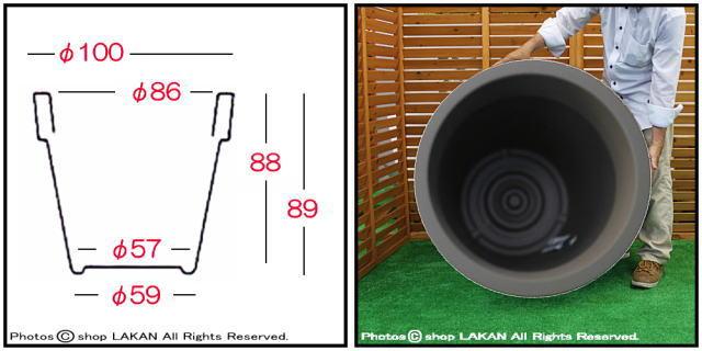 ユーロ3社 イコン ポリエチレン樹脂製 質感 高品質 植木鉢