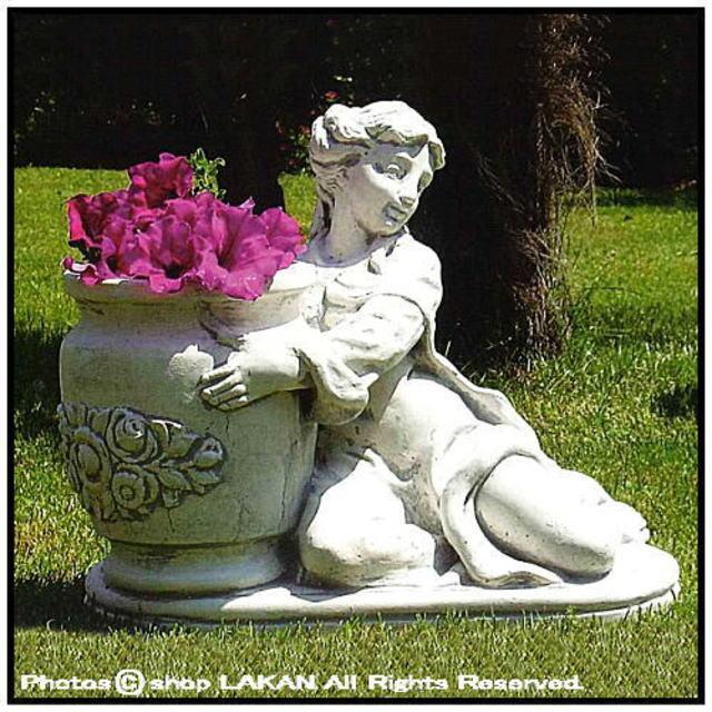 石造 女性像 庭 置物 彫像