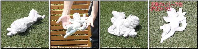 洋風 彫像 置物 天使のレリーフ