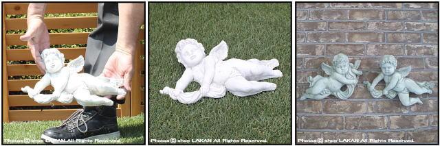 オブジェ 彫像 石像 天使のレリーフ