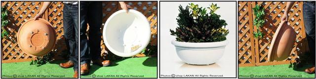 プエブラ鉢 マルキオーロ社 デザインもサイズも豊富 高級輸入樹脂植木鉢 ポリエステル樹脂製 広口平鉢