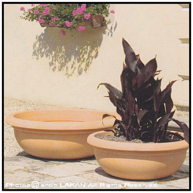 プエブラ鉢 マルキオーロ社 デザインもサイズも豊富 高級輸入樹脂植木鉢 キャスター ポリエステル樹脂製 広口平鉢