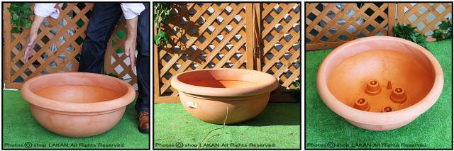 広口平鉢 デザインもサイズも豊富 ポリエステル樹脂製 プエブラ鉢 高級輸入樹脂植木鉢 マルキオーロ社