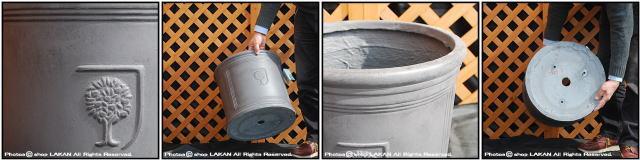 シンプル 円筒型鉢 ファイバークレイ製