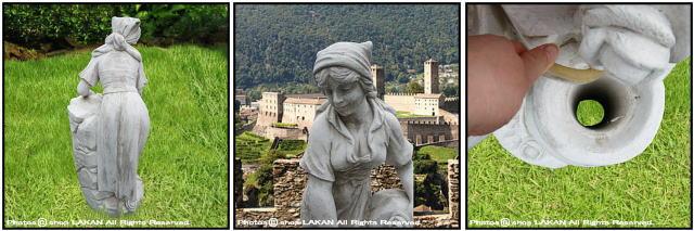 ヴィーナス アンフォラの壺と農婦 彫像